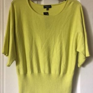Florescent Green Sweater Top Sz XL By Spense Knits